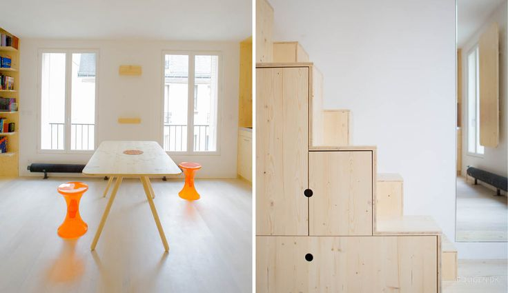 How to get extra space in a 35 sqm apartment.
