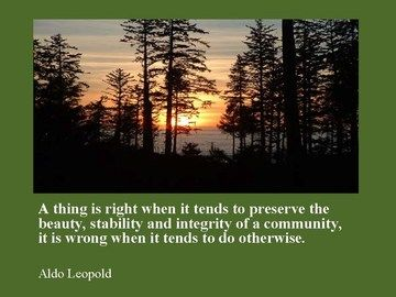 applying leopold's ethic to our planet An open source approach to zeroing in on a global ethic indeed, mr stewart's definition applying the golden ethic to the our last chance for a safe planet.