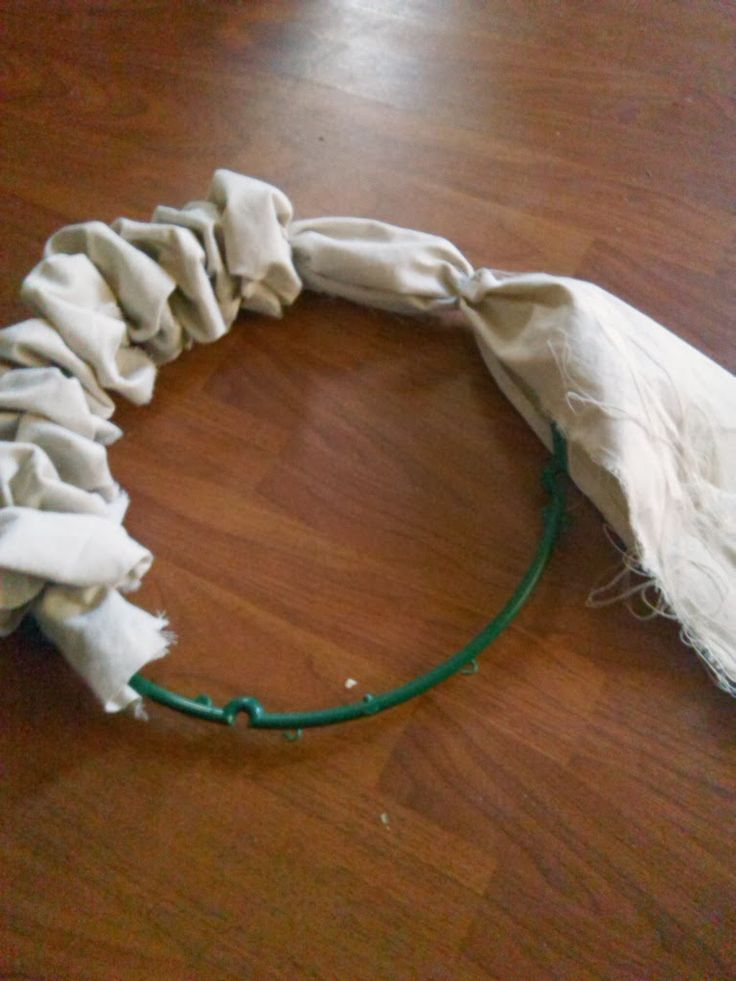 Home Heart and Hands: How to make a Drop Cloth Wreath