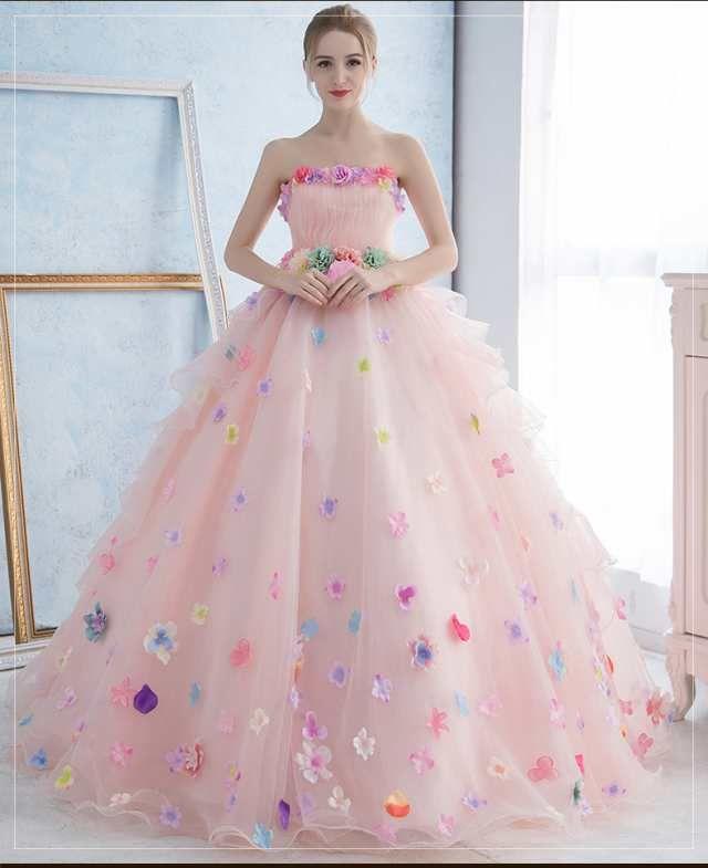 「超可愛い☆カラードレス ウェディングドレス パーティドレス Aライン ビスチェ 結婚式 演奏会 舞台 写真 全2色 オーダーサイズ可 H059」の商品情報やレビューなど。