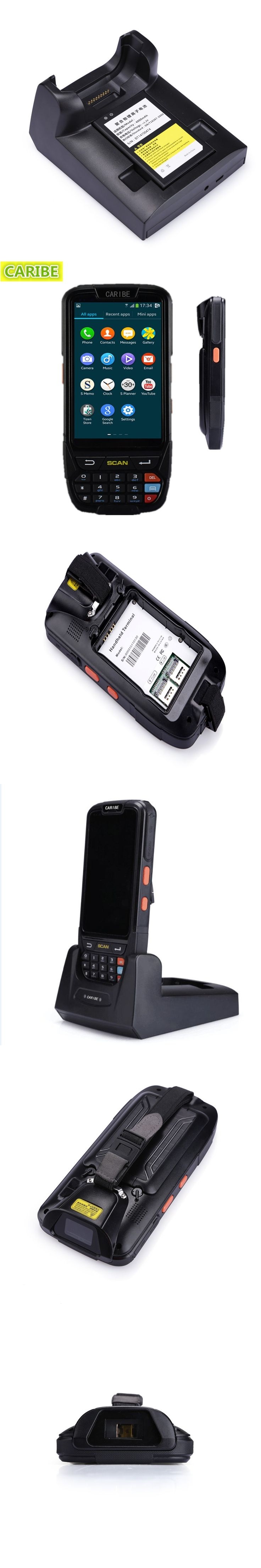 Caribe PL-40L Waterproof 2d laser barcode wifi data collector rugged tablet with rfid reader nfc