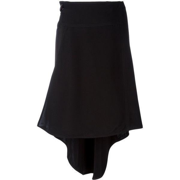 Marni asymmetric skirt ($475) ❤ liked on Polyvore featuring skirts, black, circle skirts, marni skirt, rayon skirt, asymmetrical skirt and asymmetrical hem skirt