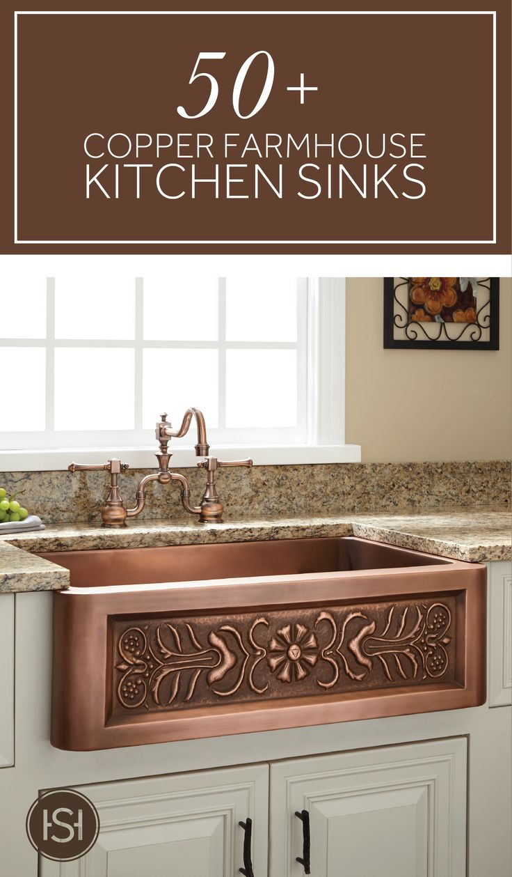 Bright and beautiful, copper farmhouse sinks are the perfect statement piece for a remarkable kitchen update.
