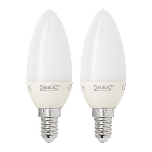 IKEA - RYET, Żarówka LED E14 200 lumenów, Żarówka LED zużywa do 85% mniej energii, a jej żywotność jest 10 razy dłuższa od zwykłych żarówek.