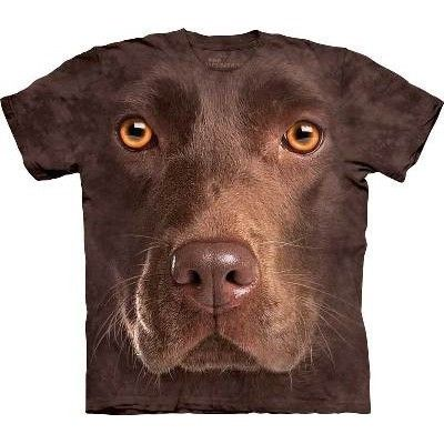 Chocolate Labrador Big Face Kids Mountain T Shirt - yourgifthouse