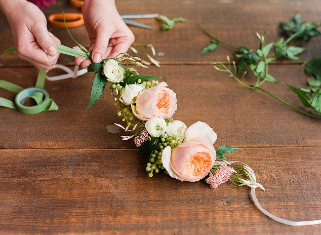 floral crown fresh flower DIY