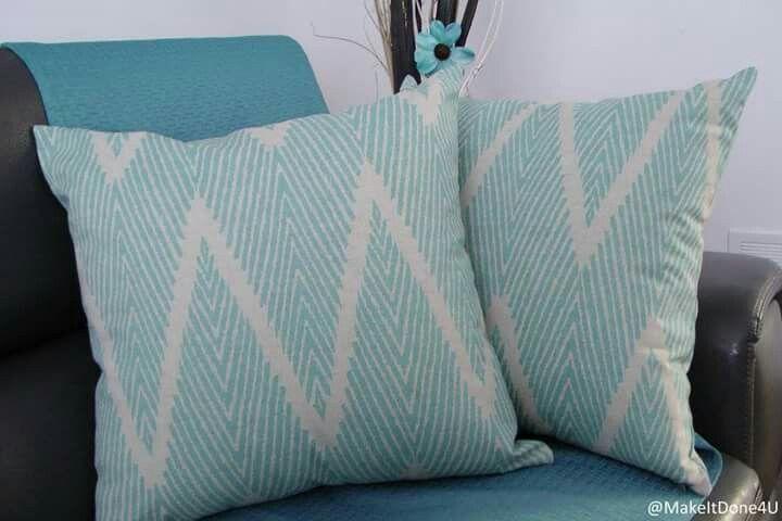 """Azur blue accent cushion 20"""" × 20"""""""