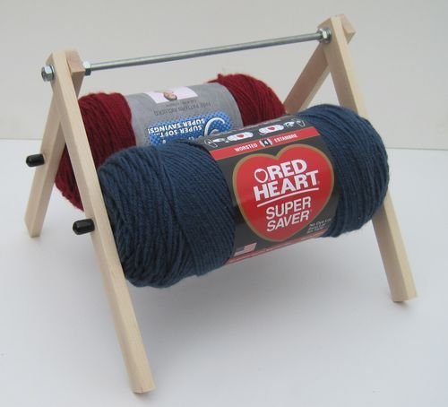 Knitting Or Crocheting Harder : Hard maple quot yarn caddy skein unwinder for knitting and