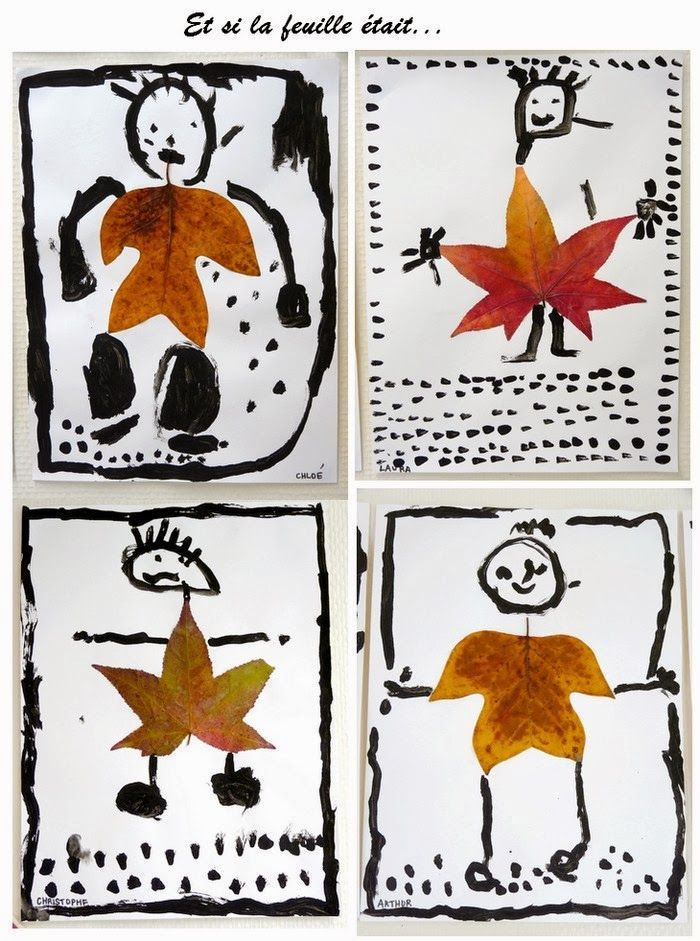 Fall art projects: l'automne. Et si la feuille devenait...
