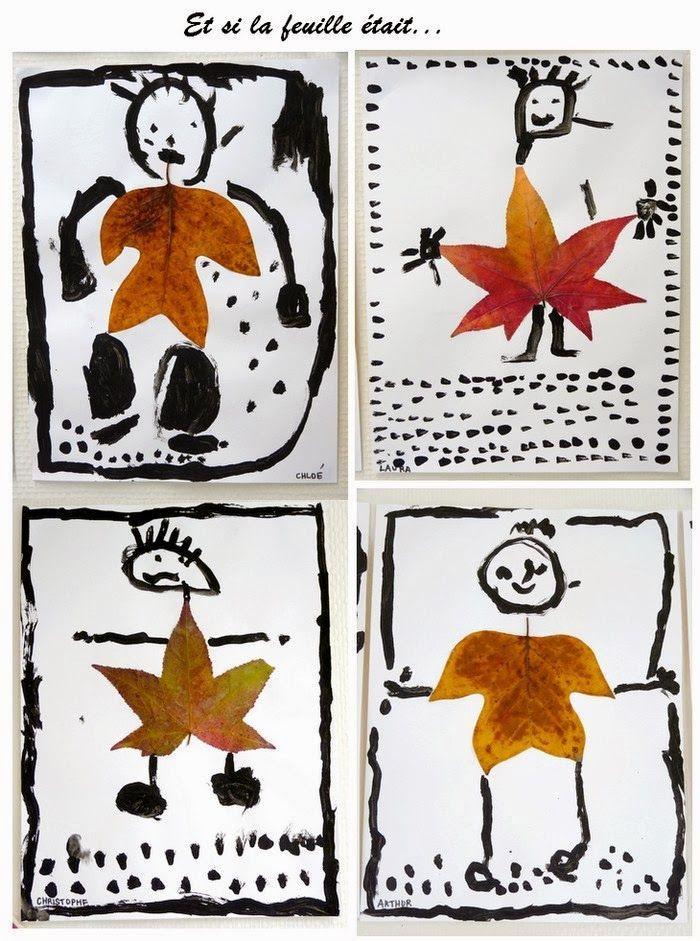Fall art projects: l'automne. Et si la feuille devenait...