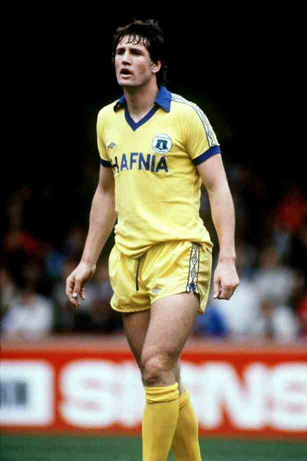 Mike Lyons of Everton in 1978.