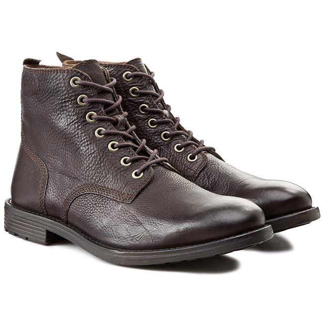 Kotníková obuv CLARKS - Faulkner Rise 261101507 Walnut Leather