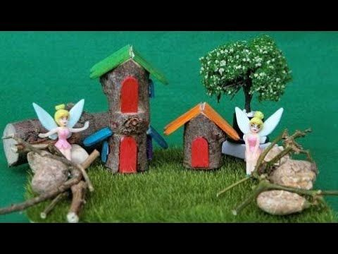 how to make a fairy house out of popsicle sticks