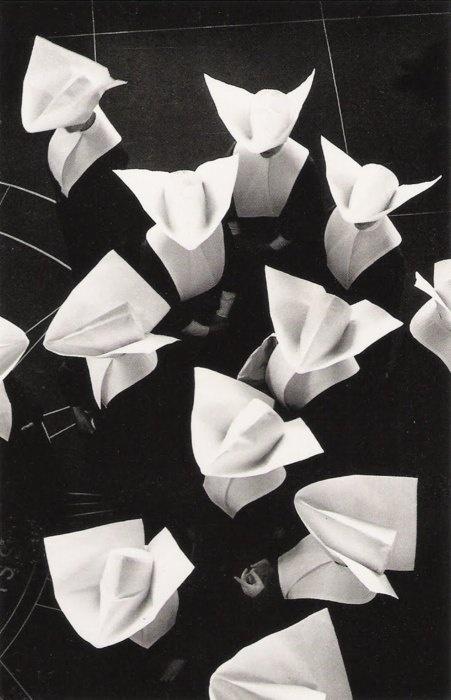 (looks like Origami) Nuns on the run...