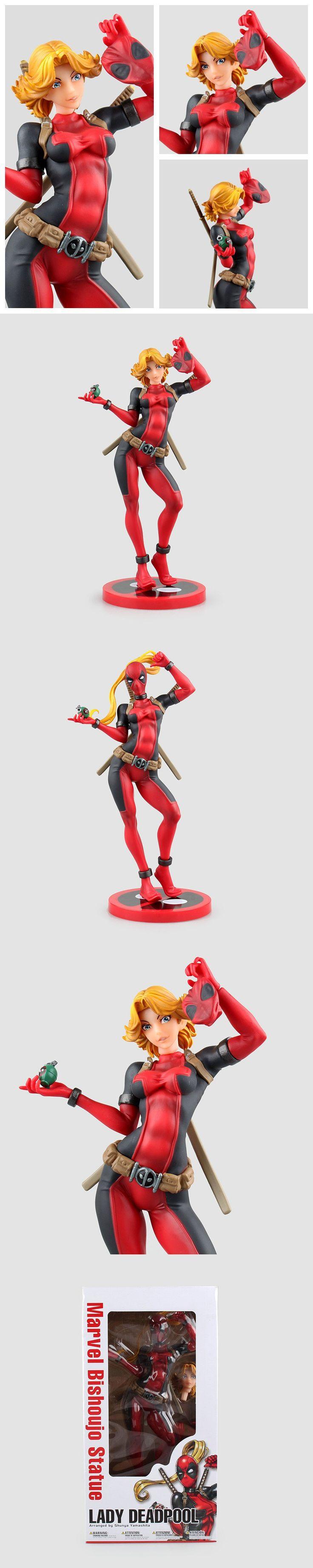 Revoltech X-men Deadpool Figure Deadpool Girl PVC Action Figure Brinquedos Figuras Anime Collectible Kids Toys Doll 23cm