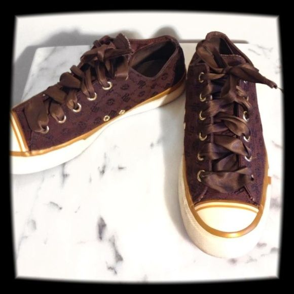Pro Keds Brown Sneakers Awesome shoes in great condition!!! Satin ribbons for laces. Pro Keds Shoes Sneakers
