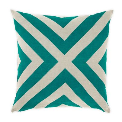 Grande Gatsby Cushion in Teal 50cm