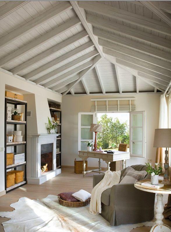 Oltre 25 fantastiche idee su soffitti con travi a vista su for Soffitto travi a vista bianco