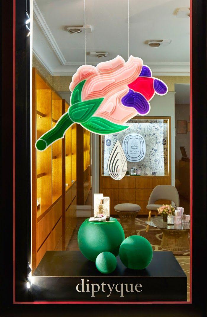 DIPTYQUE LA ROSE window displays