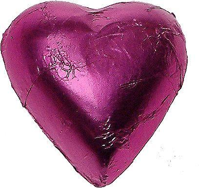 Hot Pink Bomboniere Milk Chocolate Hearts (1kg)
