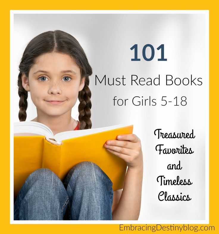 101 books for girls -- treasured favorites, timeless classics, must read books for every girl from ages 5-18. Wholesome, character building books.