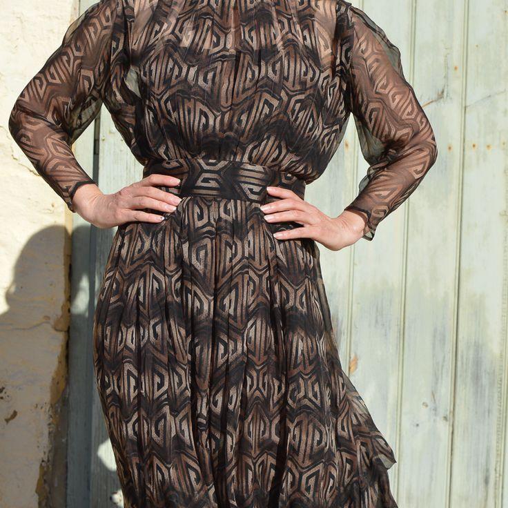 1970s Pauline Trigère vintage dress