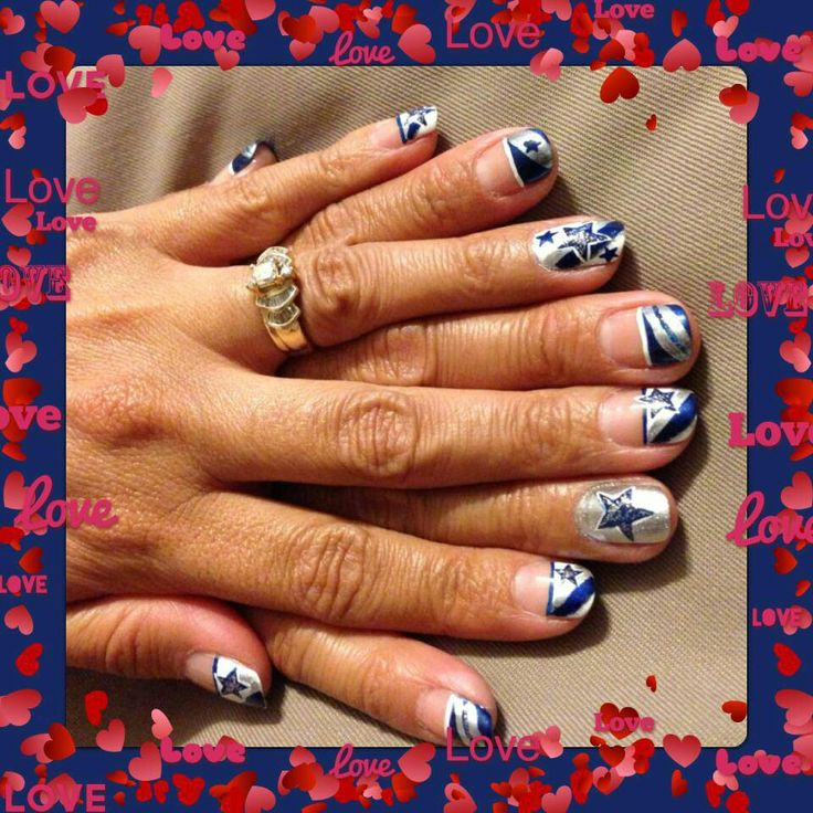 67 best dallas cowboys nail art images on pinterest beauty nails dallas cowboys prinsesfo Images