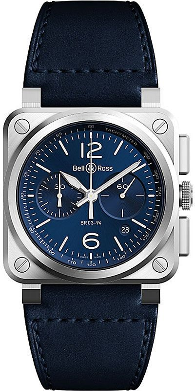 Bell & Ross Tissot BR03-94 chronograph stainless steel and rubber watch