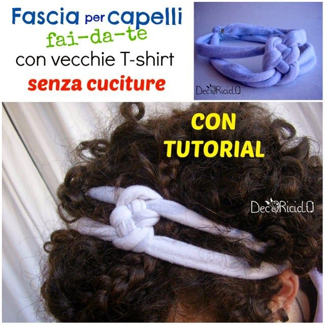 "decoriciclo: Fascia per capelli fai-da-te, con stoffa riciclata, senza cuciture, con tutorial fotografico + ""NEWS FROM YOUR SHOP"" #5"