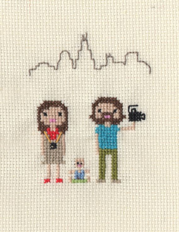 Location / New Home Custom Pixel Cross Stitch by ScarletPyjamas
