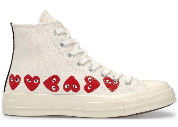 Play Converse High Multi Heart Sneaker in Khaki   Multi