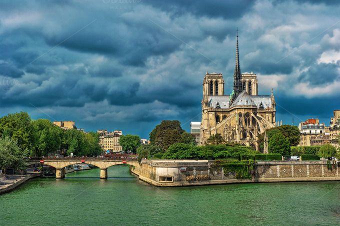 Notre Dame de Paris France by LiliGraphie on Creative Market