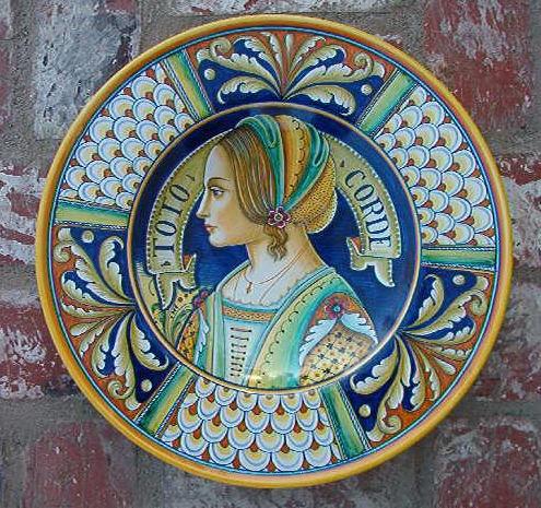 Deruta Portrait Pottery