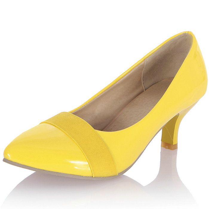 Мэри джейн женская туфли на высоком каблуке обувь острым носом резинка мед-пятки туфли на платформе Slip on свободного покроя обувь для женщин на высоких каблуках