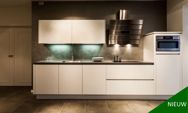 Rechte keuken in wit ultramat