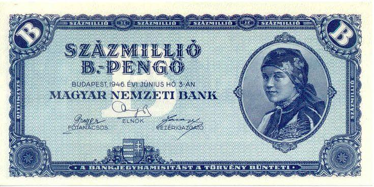 100 Quintillion Pengo bank note