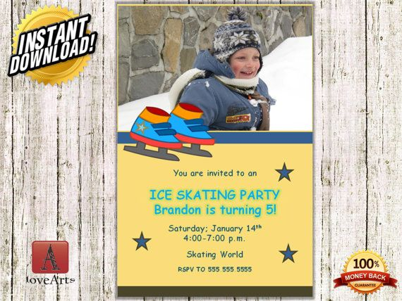 Hey, I found this really awesome Etsy listing at https://www.etsy.com/listing/249332264/instant-download-ice-skating-invitation