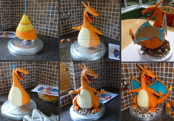 Charizard Stages by ginas-cakes.deviantart.com on @deviantART