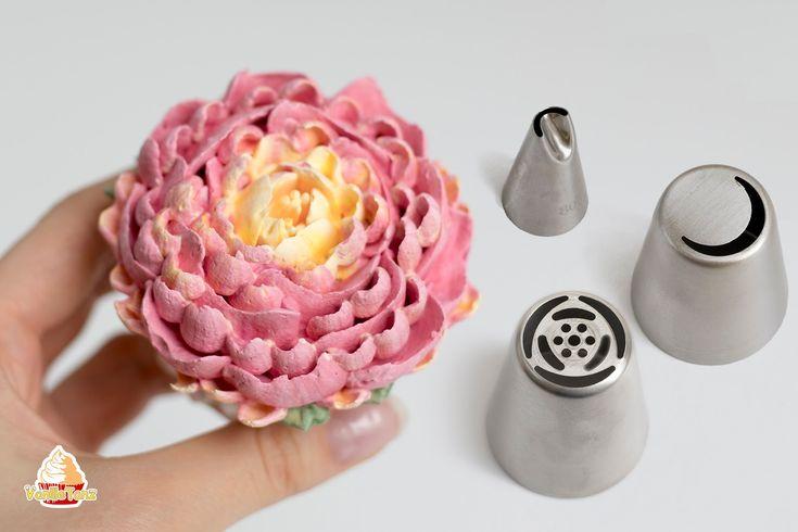 Diese Eiweißcreme eignet sich sehr gut zum Spritzen von Blumen und Dekorieren v …  – Pasteles echo y decorado en casa