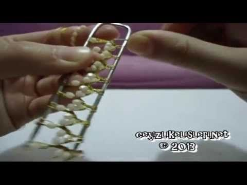 How To Make Crochet: How to make a hairpin cheesecloth Oyasu 1 - YouTube