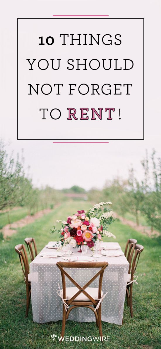 The ultimate wedding rental checklist! Follow @WeddingWire for more wedding advice and tips.