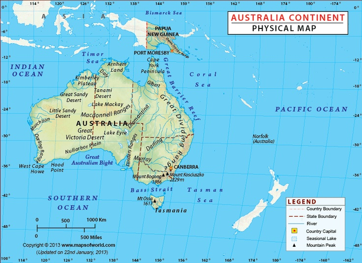 Best Australia Continent Ideas On Pinterest Geography Of - Blank physical map of us