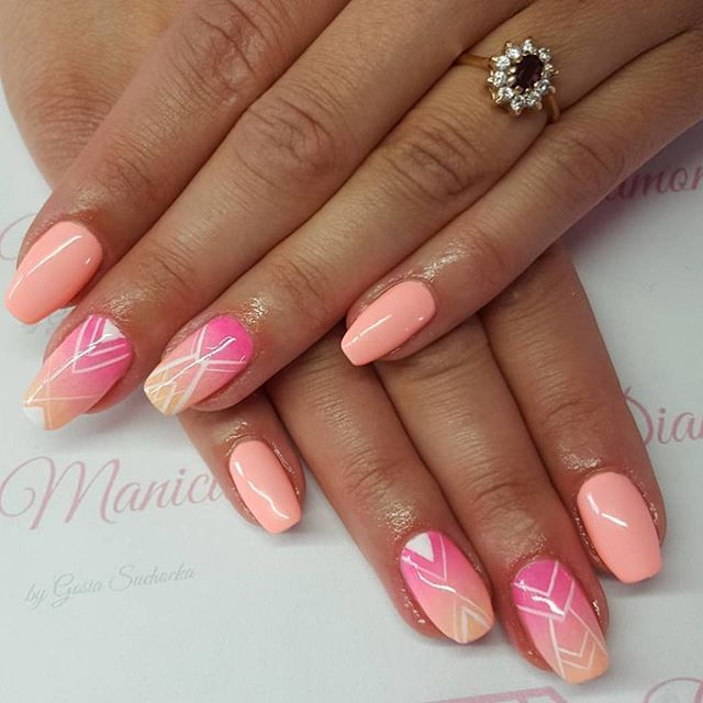 Delikatna stylizacja @goszisuchoszimalgoszi, która powstała z połączenia kolorków 023, 043, 130 i 131 Jak Wam się podoba? Snapchat: semilac #semilac #nails #semigirls #delicate #nailart #nailsofinstagram #nailfie #colours #collection #pastel #perfect #weekend