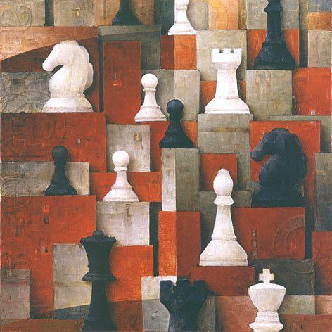 Red Chessboard ~ Sergio Cerchi