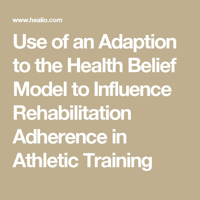 Use of an Adaption to the Health Belief Model to Influence Rehabilitation Adherence in Athletic Training