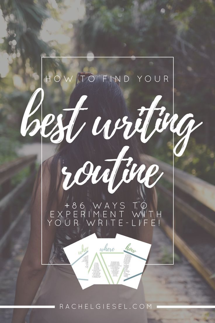 Your writing routine is composed of four ingredients: your when, your where, your how, and your how much. You may already have an idea of how these ingredients are functioning (or not functioning) in your writing life, but we don't want to just pick some aimlessly and assume its perfect for us, because there isn't a one-size-fits-all approach to your writing life. You've got to figure out the best routine for you, which is different from me and every other writer. I've got 86 ways...