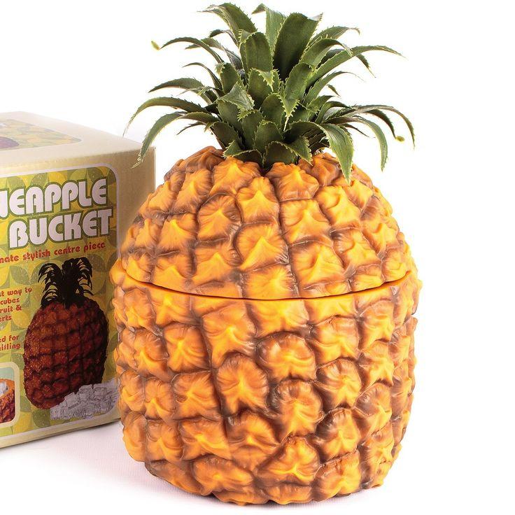 Retro Pineapple Insulated Ice Bucket