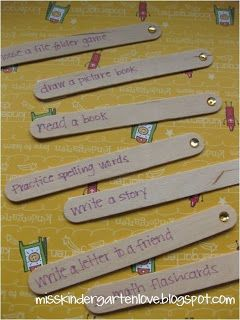 'I'm done' sticks for the 'I'm done' jar