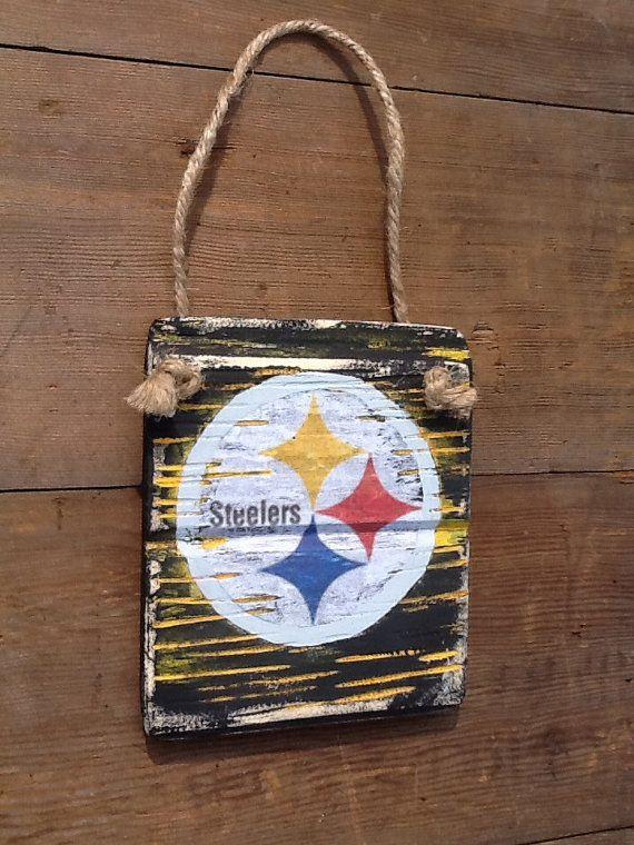 Steelers Reclaimed Wood Sign Vintage Steelers Sign by WOODruSAYIN