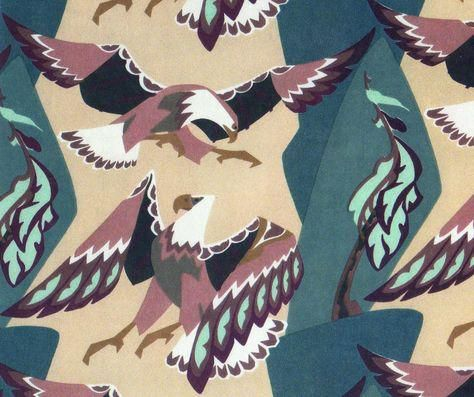CDN DESIGN ICON Eagle textile by Thor Hansen c1955